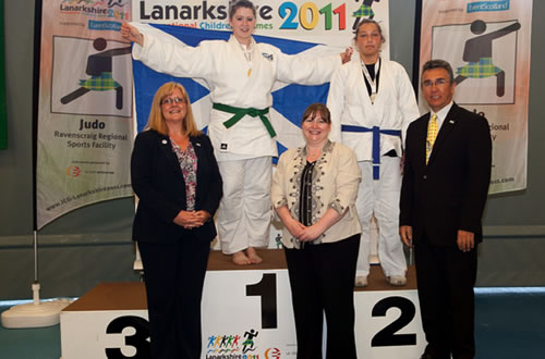 Cochlear implant user Michelle Boyle, pictured below, took the gold medal for Judo in the Girls over 70kg category.